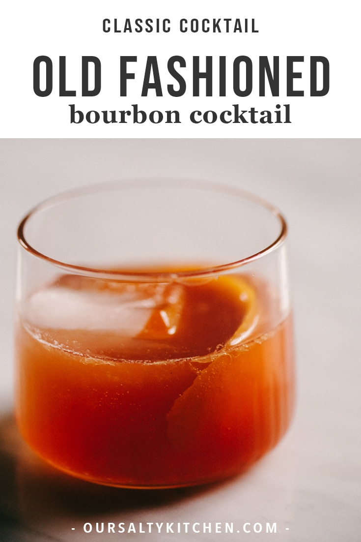 This old fashioned whiskey cocktail is a classic. Made with muddled orange and cherry, sugar cubes, and a dash of bitters, the flavor profile is definitely