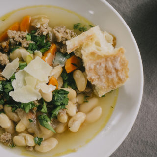 White Bean (Cannellini) and Sausage Soup