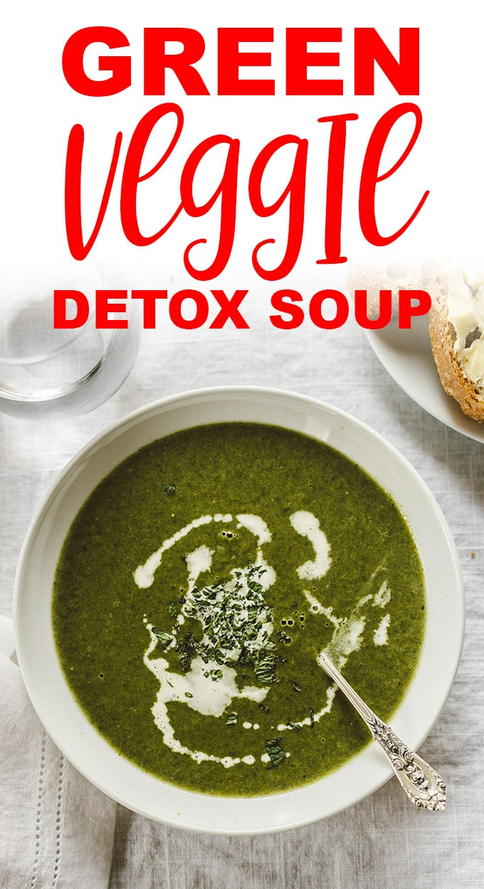 This green vegetable soup is refreshing, hearty, and packed with vitamins and minerals. It's a healthy, customizable spring detox soup that's naturally paleo and whole30. #greensoup #paleo #whole30 #realfood #wholefoods #bonebroth #souping
