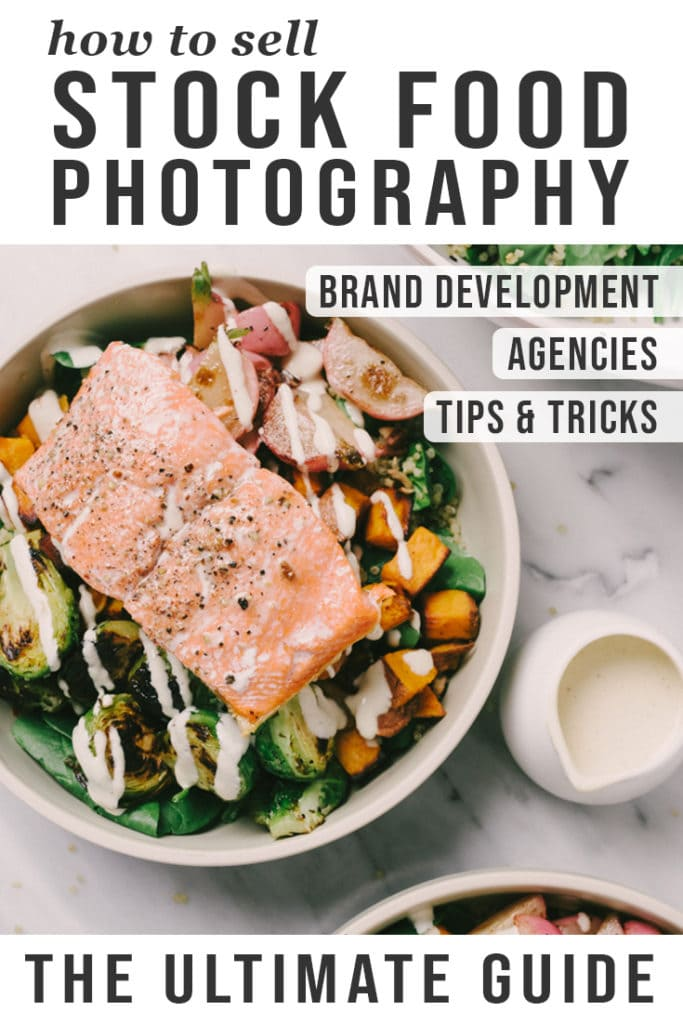 how to sell food stock photography