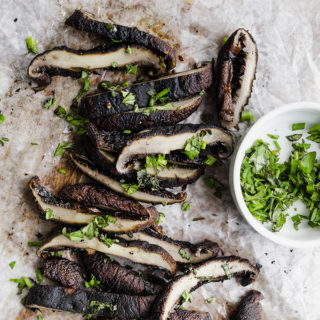 Charcoal Grilled Portobello Mushrooms