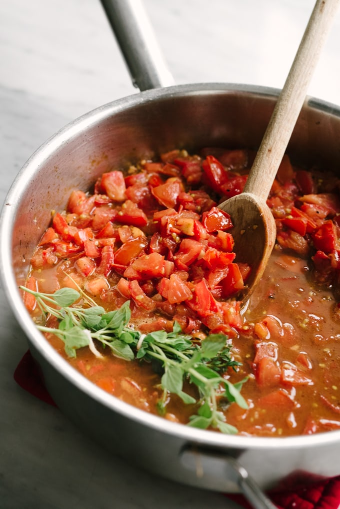 Fresh tomato marinara cooking basics our salty kitchen fresh tomato marinara is a whole food recipe that never goes out of style deeply forumfinder Image collections