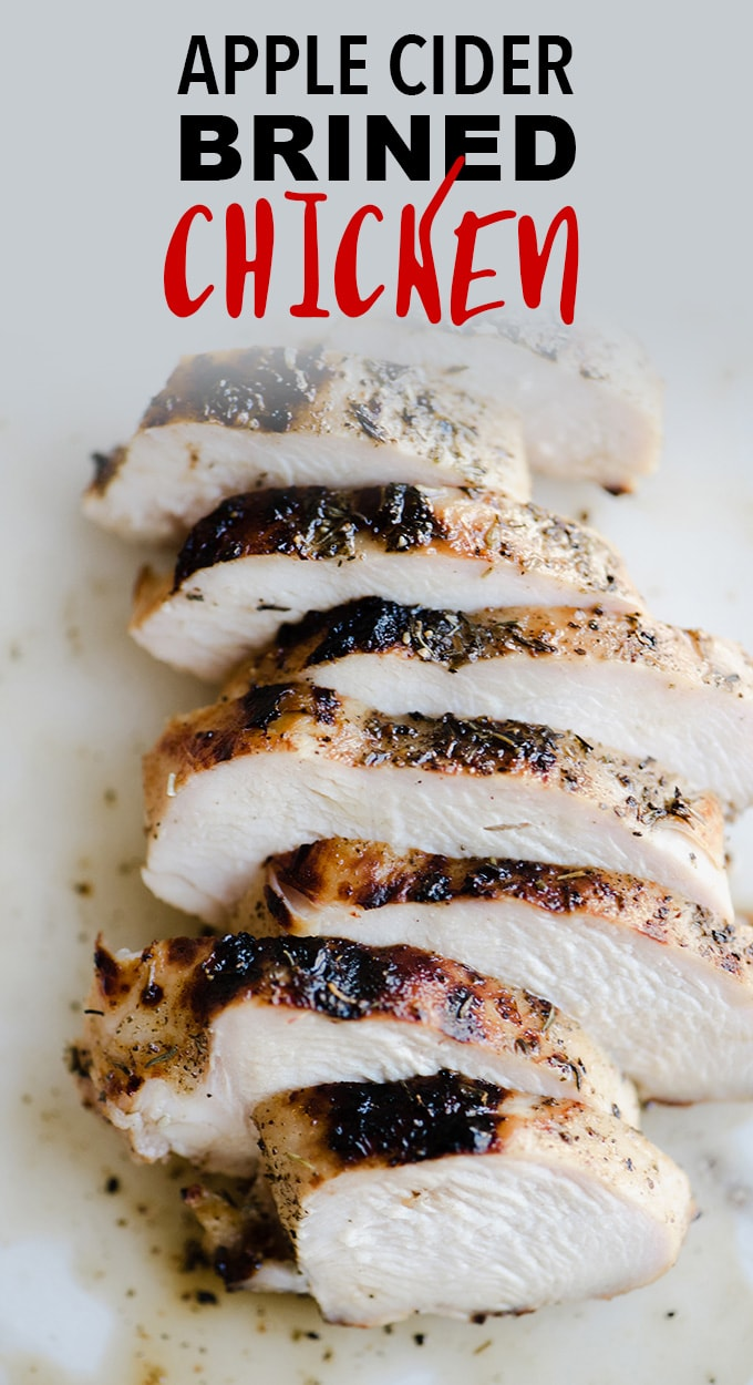 This apple cider chicken is THE BEST chicken I've ever made. Life. Changing. Chicken. The marinade is quick and easy, and the brined chicken grills up in 10 minutes to charred, juicy, sweet, and savory perfection. This is a family friendly paleo grilled chicken recipe that everyone will love! #chicken #applecider #paleo #wholefood #realfood