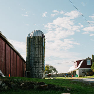 A farm landscape. Where to buy pastured chickens with Open Book Farm in Frederick, MD.