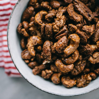 Gingerbread Spiced Nuts (Paleo/Refined Sugar Free)