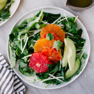 Citrus Kale Salad with Avocado and Jicama