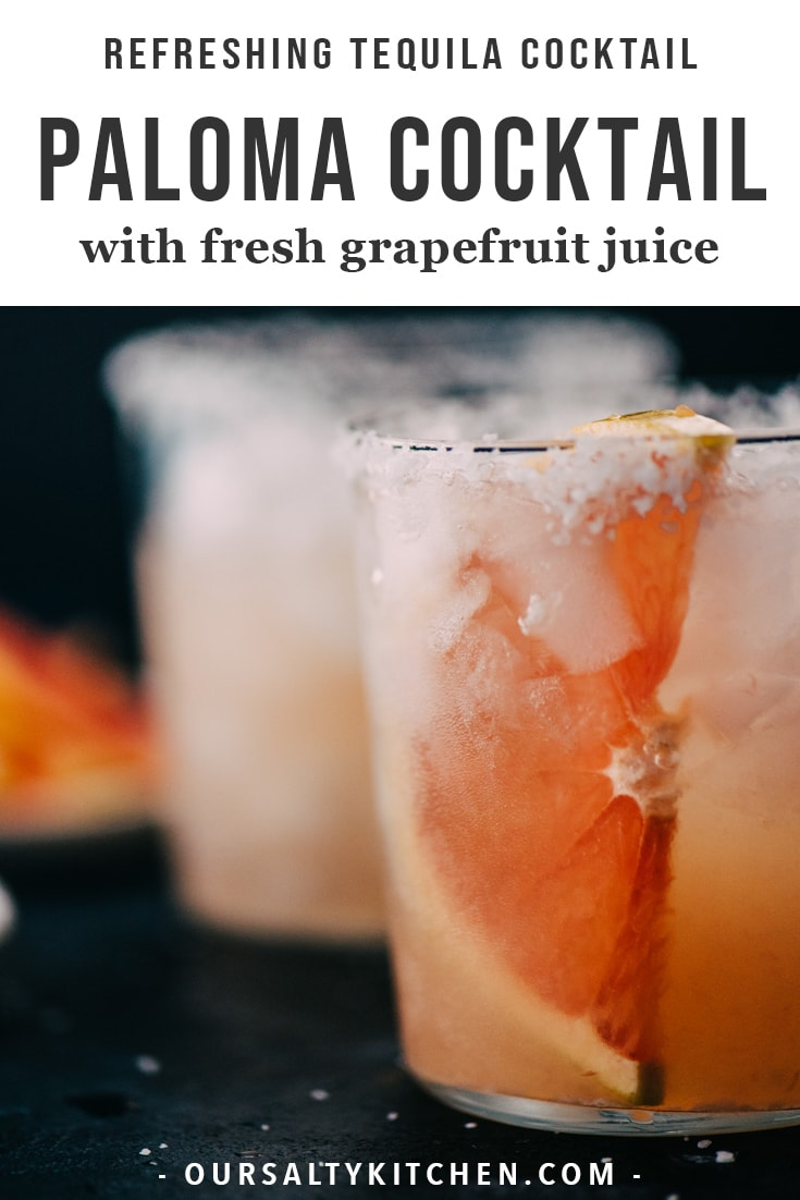 The paloma is Mexico's most popular tequila cocktail, and for good reason! Made with tequila and fresh grapefruit juice, it's perfectly balanced and refreshing. You'll want to make this easy tequila cocktail recipe for all your parties and happy hour gatherings. #paloma #tequila #cocktail #grapefruit #citrus #drinks