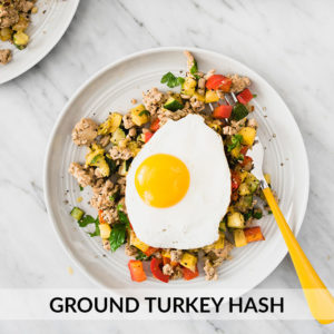 Paleo Ground Turkey Hash with Squash and Peppers