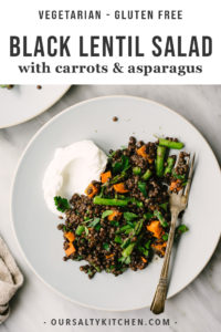 Elevate your meatless Monday game with these easy on the eyes, heavy on the flavor, vegan black lentils with roasted vegetables! Figuring out how to cook black lentils might seem intimidating, but I promise it's super easy. You'll be a pro in no time using my tried-and-true tips.