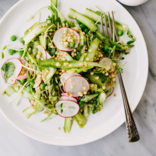 Spring Sorghum Salad with Lemon Vinaigrette