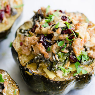 Sausage and Veggie Stuffed Acorn Squash