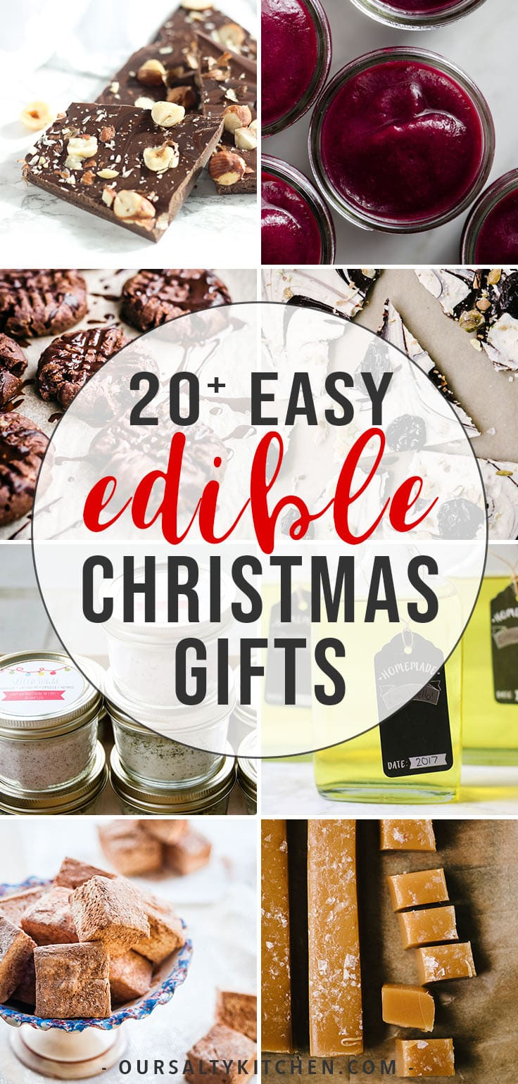 A collection of easy and elegant edible Christmas gift ideas.